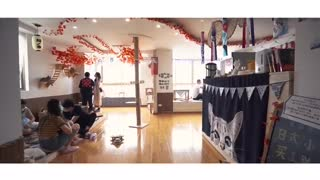 Cat cafe - japan temple style