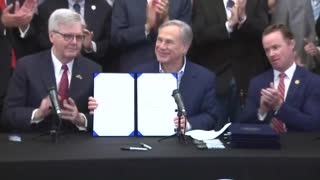 WATCH! Texas Gov. Greg Abbott Signs Constitutional Carry Bill Into Law