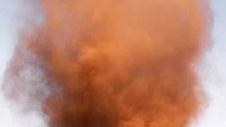 Dust Devil Rips Through Desert