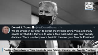 Trump tweets about mask wearing being patriotic