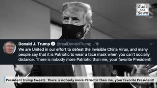 Trump tweets about mask wearing being patriotic