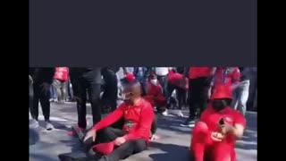 EFF leader Julius Malema at vaccine protest Part 2