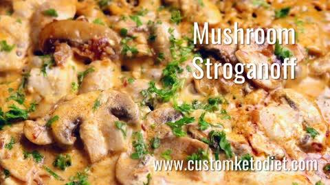 Keto Mushroom Stroganoff