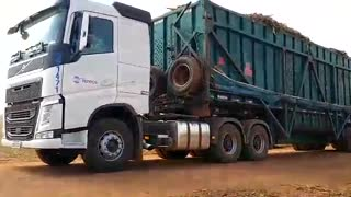 truck loaded with sugar cane, Brazil 2020