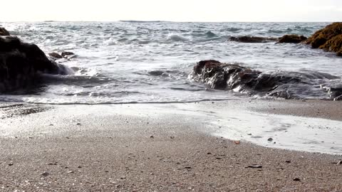 Waves and Rocks Mean Beauty of Nature
