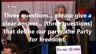 Geert Wilders Speech from 2014 that Led to his arrest for supposedly insulting Moroccans