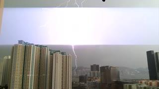 Lighting strikes Hong Kong