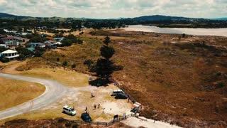 4K Drone footage of Ruakaka Beach, New Zealand