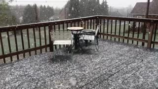 Snowing in April