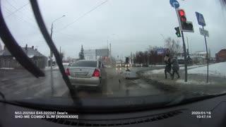 Red Light Runner Swiped in Russia