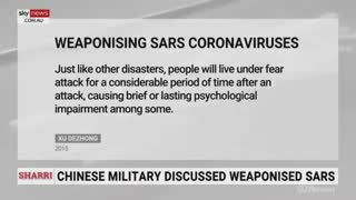 """Chinese Military documents """" show """" it wanted to weaponize Biological Weapons - Sky news Reports"""