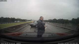 Driver Performs P.I.T Manoeuvre on Themselves