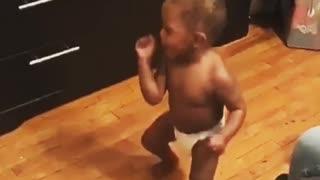 Baby boy participates in 'shoot dance challenge'