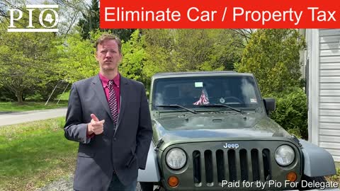 Remove the personal property tax (car tax)
