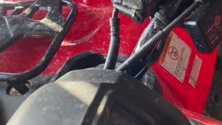 2021 Honda Rancher 420 - First Cold Start.