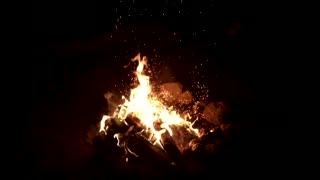 slow motion Hot fire