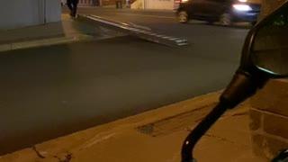 Strange Way to Transport Ladder Down Street