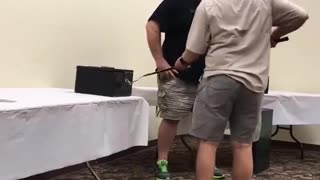 Snake Handler Training Packs a Surprise