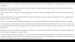FBI justice department knew there wasn't Russian collusion