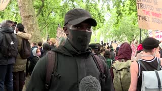 London protesters voice their support for anti-racism protests