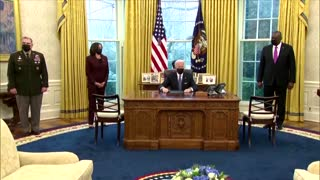 Biden overturns Trump's ban on transgender troops