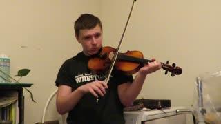 Armando's home fiddle lesson, Silent Night December 2020