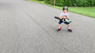 Skating is Better when Propelled by a Leaf Blower