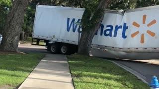 Semi Truck Gets Stuck