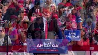 Trump knocks Biden on border, hints at 2024 plans