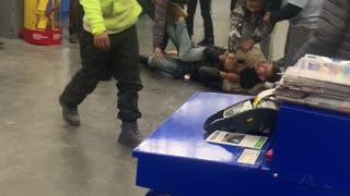 Furious Fight Breaks out in Walmart