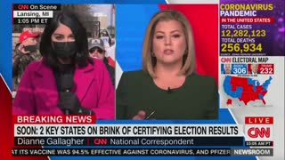 Trump Supporters Drown Out CNN Reporter and Embarrass Her On Live TV