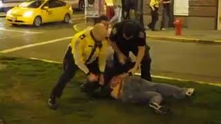 Police Violence in Victoria BC Canada