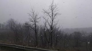 snow showers Cleveland Ohio 4-21-20