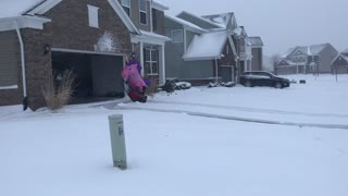 Snow Blowing Unicorn Takes on Michigan Snowstorm