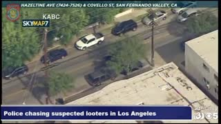 Police Chase Suspected Looters In Los Angeles
