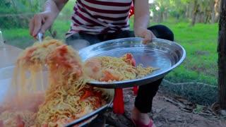 Amazing Cooking Noodle Fry Shrimp Recipe