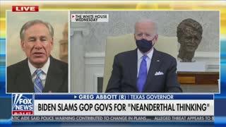 Texas Gov. Greg Abbott SLAMS Biden For Neanderthal Comment