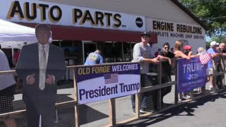 Imágenes del mitin de Trump en Pensilvania