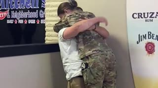 Soldier surprises boyfriend after being away for 6 months