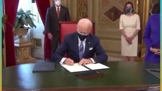 Joe Biden says he doesn't know what he is signing.