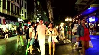 Walking around Nana Plaza at night 4K   Freelancers around Bangkok city, Thailand Music