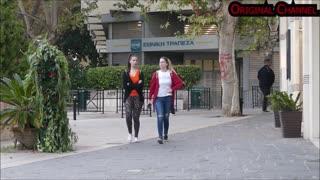 Bushman prank on girls in Greece 😂😂😂