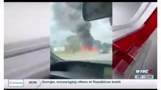 Harrison Deal burning car after crash. Conspiracy?