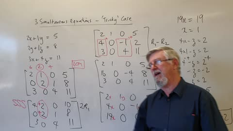 Math 3 Simultaneous Equations 03 Tricky Cases