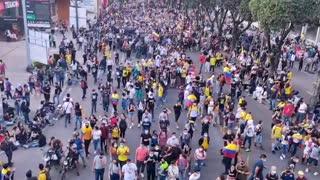 Movilización carrera 27 en Bucaramanga