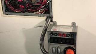 Installed a generator transfer switch station