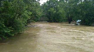 June 2019 Canal Fulton Ohio Flood by Cherry Street Bridge
