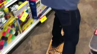 Toy store skating