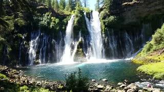 Burnet Falls in Shasta County, California