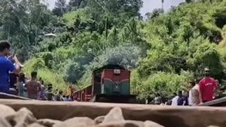 Under The Train Foottage Surprised Train